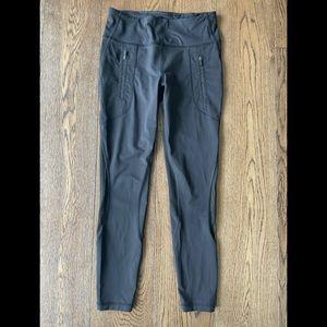 Lululemon crop leggings with sheer detailing
